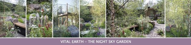 2014 Chelsea Flower Show, Vital Earth - The Night Sky Garden, Harry & David Rich